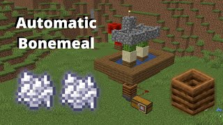 Minecraft 100% Easy, Automatic Bonemeal Farm using Composter | 1.15.2 - 1.14