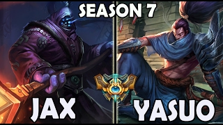 Best Jax Korea (59% Win Ratio) vs Yasuo TOP Rank #31 Challenger 744 LP