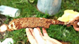 Antique Rusty Handmade Knife RESTORATION