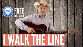 I WALK THE LINE -  Johnny Cash - Guitar lesson - intro