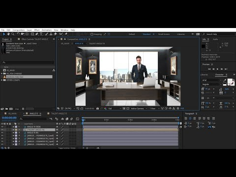 After Effects Template Tutorial Virtual Studio 10 | Bluefx