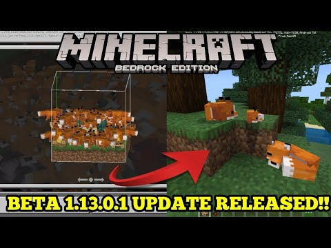 Minecraft PE 1.13 | MCPE 1.13 BETA BUILD 1 UPDATE RELEASED!! + GAMEPLAY!! (Pocket Edition)