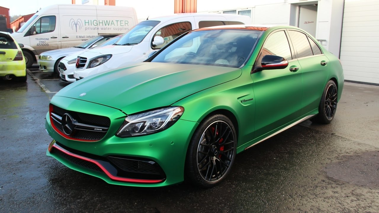 Chrome Car Wrap >> TLC Detailing Ltd | Mercedes-Benz C63 AMG in Satin Chrome Green - YouTube