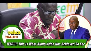 Download WAO!!!! This Is What Akufo-Addo Has Achieved So Far Mp3 and Videos
