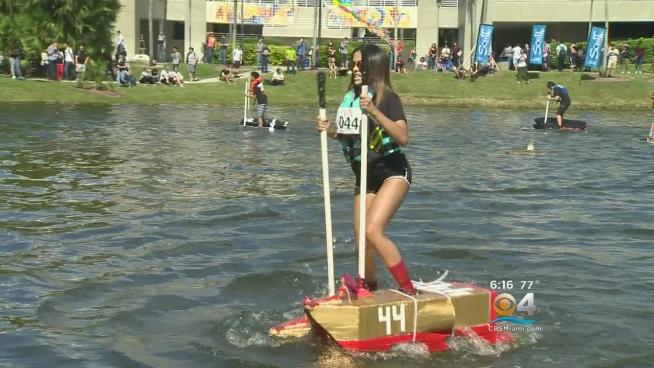 FIU Students Use Ingenuity To Walk On Water - YouTube