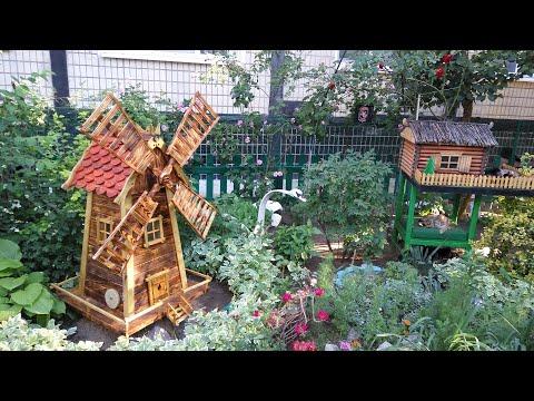 Мельница декоративная для сада своими руками чертежи