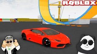 Yeni Muhteşem Arabamızla Uçuyoruz!! - Panda ile Roblox [RACES] Full Throttle