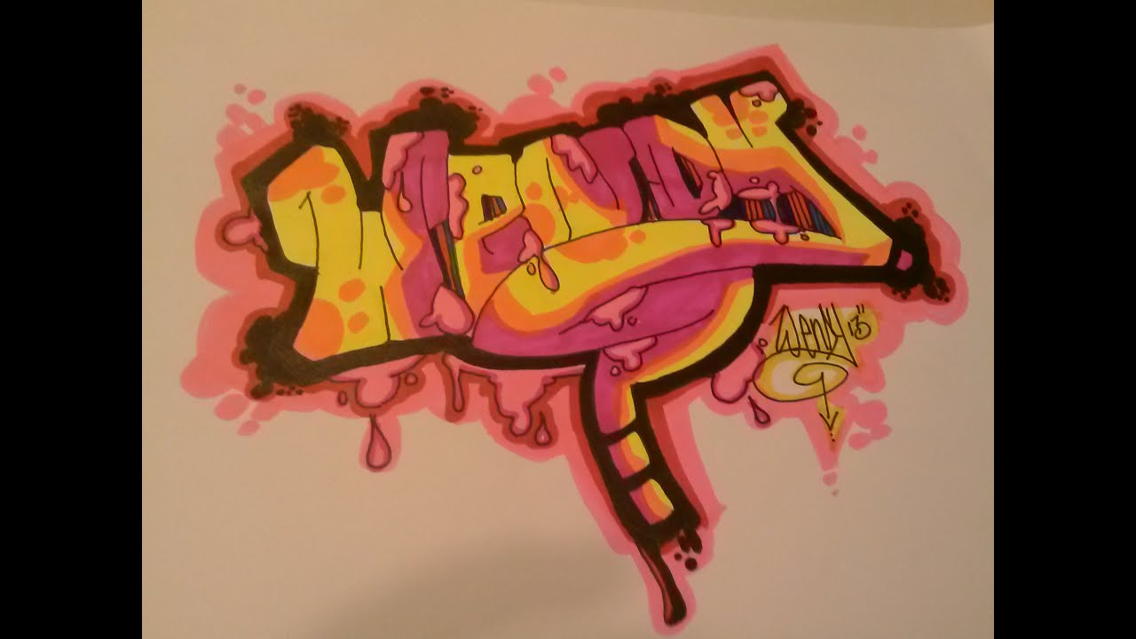 Adding Color to Basic Graffiti WENDY  YouTube