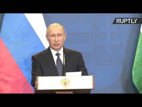 Putin, Orban speak to media in Budapest