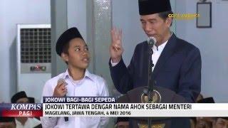 Jokowi Tertawa Saat Seorang Santri Sebut Ahok Sebagai Menteri