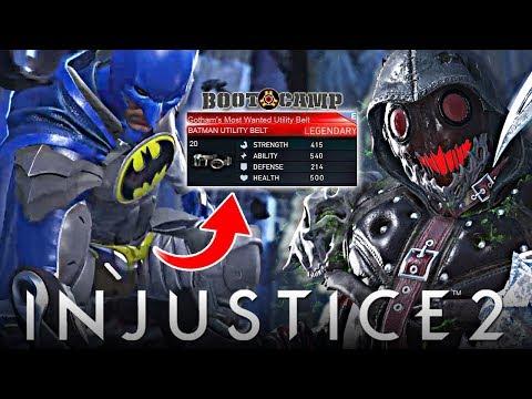 Injustice 2 Online - Scarecrow VS LEGENDARY Batman Gear!!