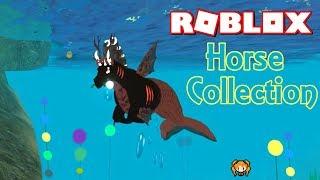 ROBLOX HORSE WORLD KOLLEKTION! Aqua Pferd, Wolf, Skelett, Drache + Schmetterling Pony