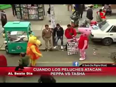 Peppa pig vs tasha con musica de linkin park de fondo