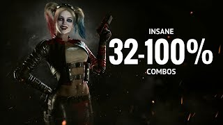INSANE HARLEY QUINN COMBOS!! Injustice 2