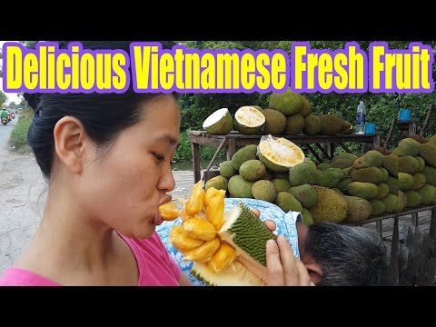 Vietnam Street Food - Delicious Vietnamese Fresh Fruit Jackfruit/Mit To Nu
