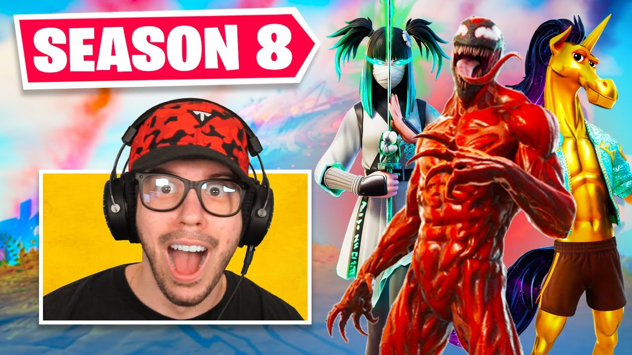 Download New *SEASON 8* BATTLE PASS in Fortnite! (CARNAGE)