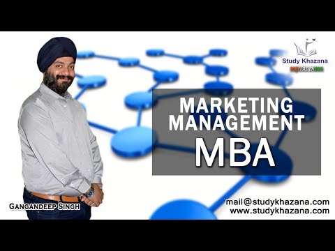 Introduction to Marketing Management By Gagandeep Singh | MBA | Study Khazana