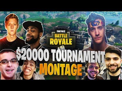 Ninja Wins Keemstar $20,000 YouTuber/Streamer Friday Fortnite Tournament (Montage)