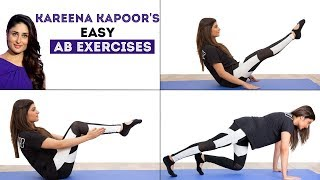 4 Easy Ab Exercises  For A Flat Stomach   Kareena Kapoor Workout