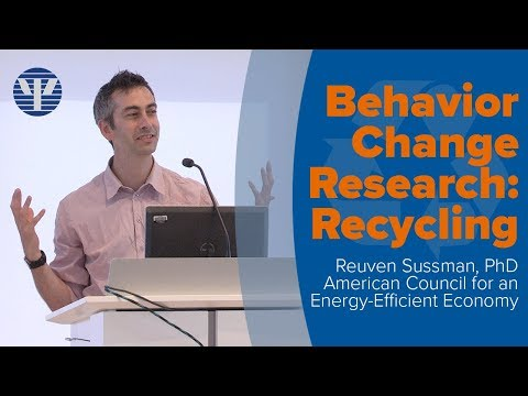 Behavior Change Research: Recycling with Reuven Sussman, PhD