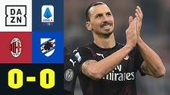 Zlatans Rückkehr bleibt torlos: AC Mailand - Sampdoria 0:0 | Serie A | DAZN Highlights