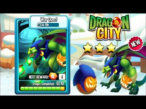 Dragon City - War Quest, get a new GOBLIN DRAGON [COMPLETED] 😱