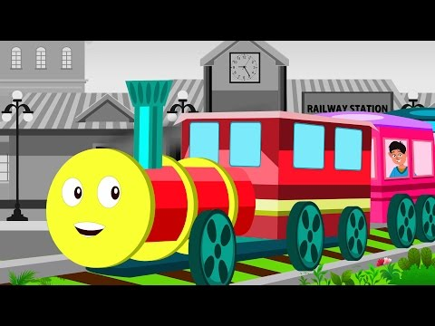 Chuk Chuk Karti Rail Chali Rhymes in Hindi | Bal Geet Hindi | Kids Tv India | Hindi Nursery Rhymes