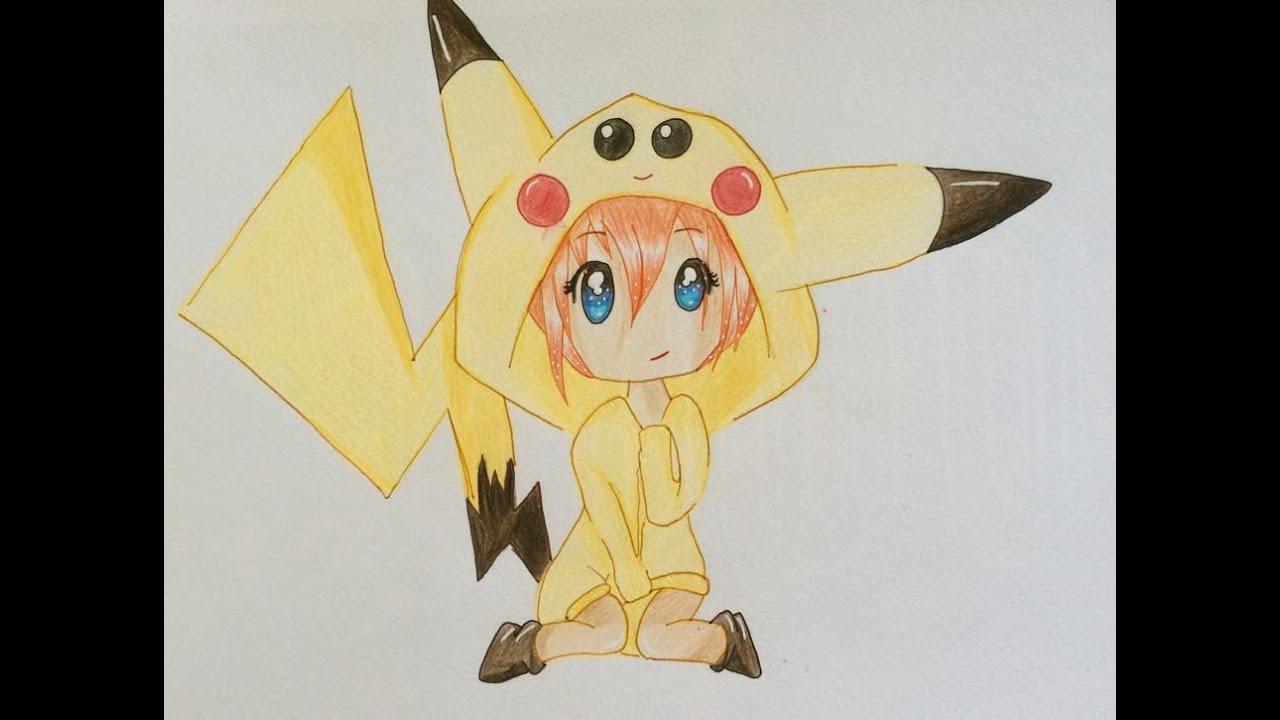 Dessin chibi pikachu inspiration printerest youtube - Pikachu dessin anime ...