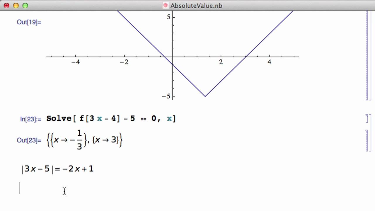 Absolute value and mathematica youtube absolute value and mathematica ccuart Gallery