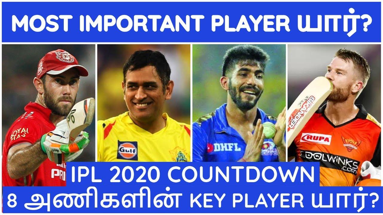 IPL 2020 TAMIL|IPL LATEST|IPL all team Key Players|CSK,MI,RCB,KKR,SRH,RR,KXIP,DC NEWS|IPL NEWS TAMIL