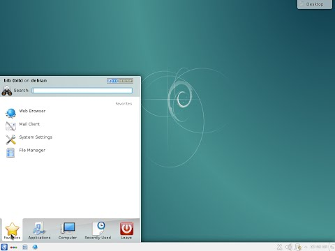 "Installation Debian 8 ""Jessie"" 64bit RC1. KDE Desktop. The Universal Operating System."