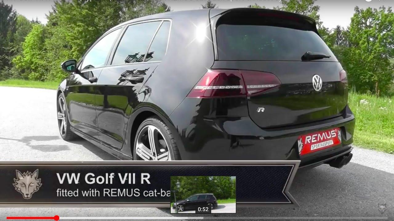 vw golf vii r mk7 remus cat back sport exhaust system. Black Bedroom Furniture Sets. Home Design Ideas