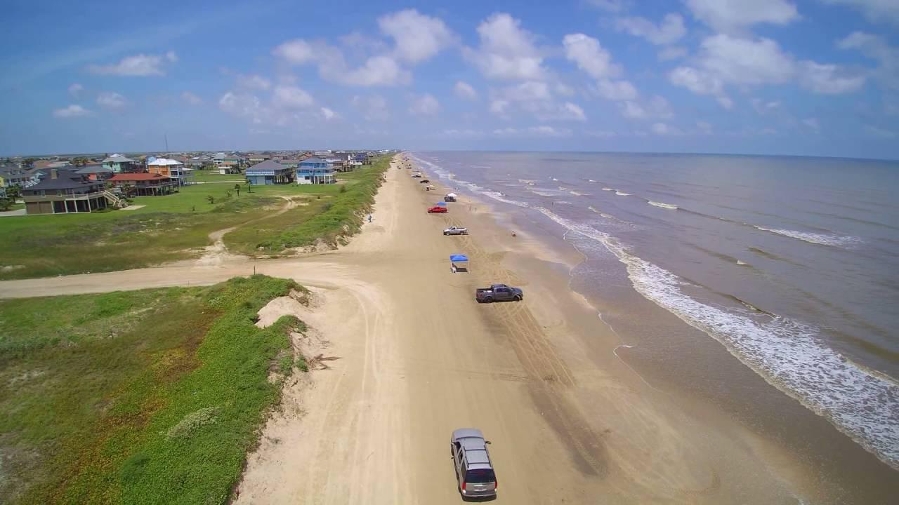 Drone Footage Of Crystal Beach In Bolivar Island June 16 2016