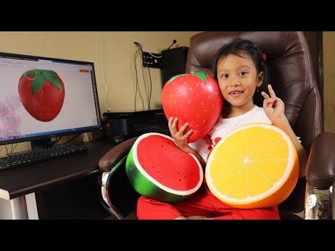 Squishy Buah Buahan Jumbo dari Banggood 💙 Giant Squishy bentuk buah semangka jeruk strawberry