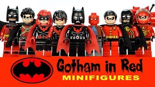 LEGO Batman Family Gotham in Red DC Super Heroes MOC Collection w/ Robin Nightwing & Batwoman