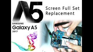 Samsung A5 2017 (A520F) Screen & Glass Full set Replacement / mostra la sostituzione