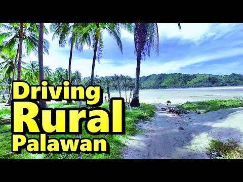 Driving Rural Palawan Philippines on Rented Scooter to Bucana Beach