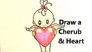 valentine draw heart easy
