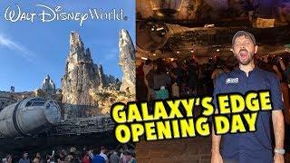 Star Wars Galaxy's Edge Opening Day in Walt Disney World Was CRAZY!