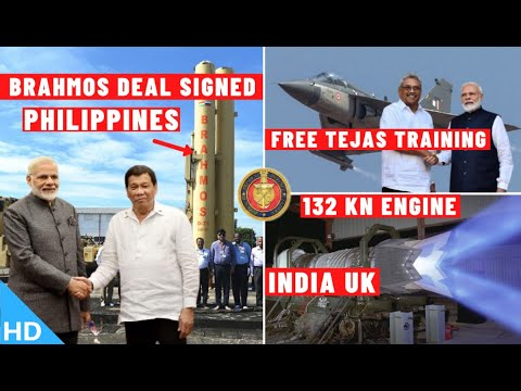 Indian Defence Updates : 132Kn Engine Deal Final,Philippines Signs Brahmos Deal,Tejas Srilanka Offer