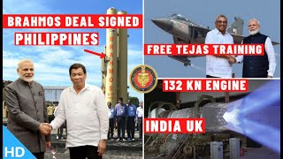 Indian Defence Updates : 132Kn Engine Deal Final,Philippines Signs Brahmos Deal,Tejas Srilanka Offer