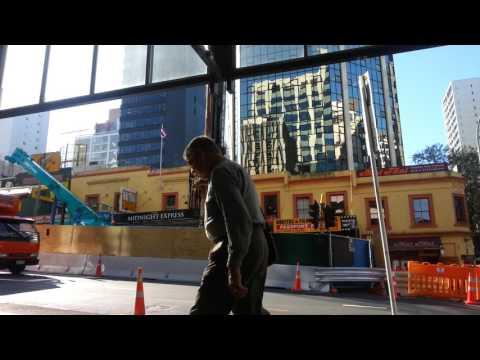 City rail link construction Auckland CBD April 2016