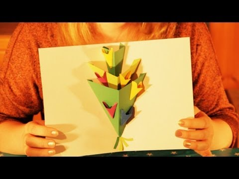 Pop Up Flowers Greeting Card Tutorial Happy Birthday Happy Easter