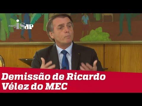 Bolsonaro sobre demissão de ministro da Educação: faltou expertise em gestão