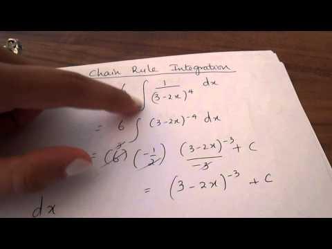 Chain Rule Integration - A2 Maths , C4