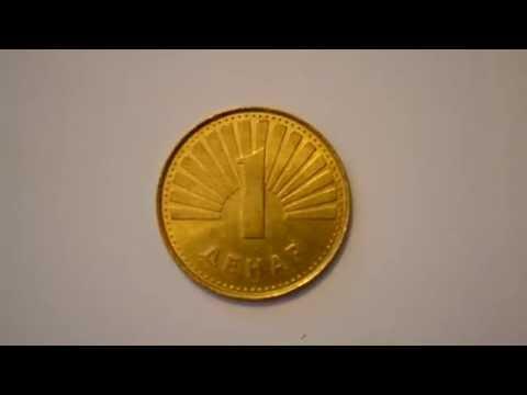 One Macedonian Denar 2001 metal