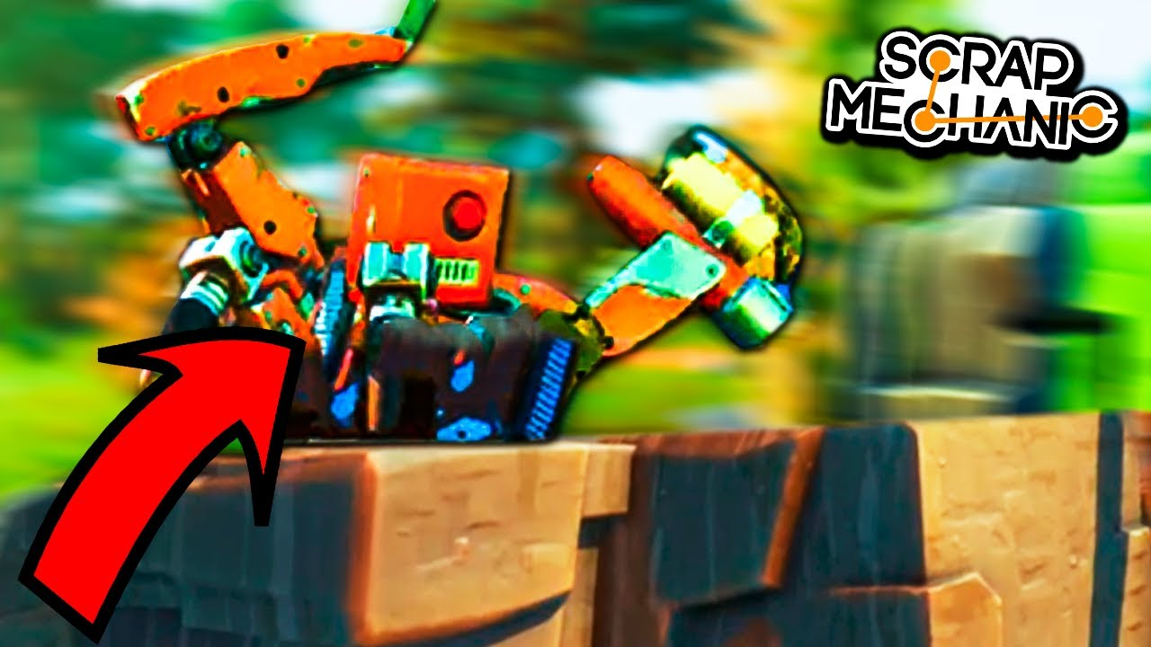 NOS ATACA EL MEGA ROBOT!! - #4 SCRAP MECHANIC!! - Nexxuz