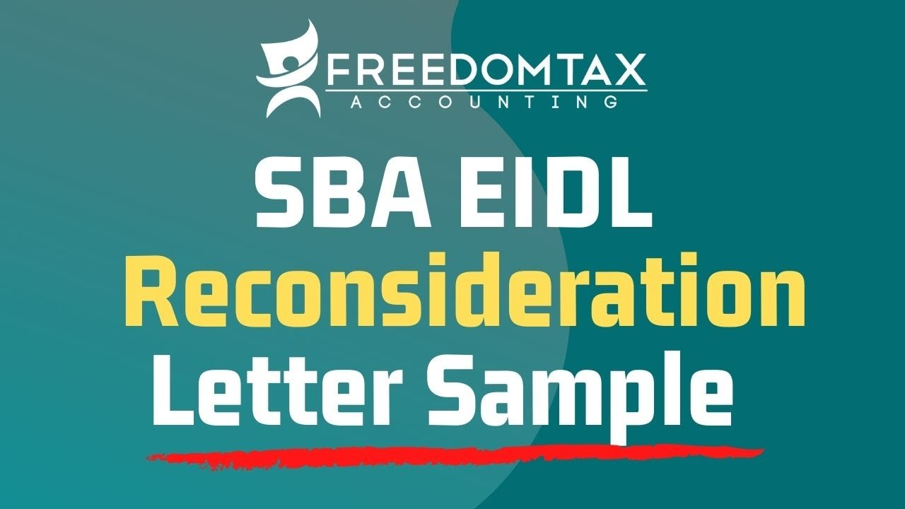 How to Write SBA EIDL Loan Reconsideration Letter [SAMPLE TEMPLATE INCLUDED  FOR DOWNLOAD]
