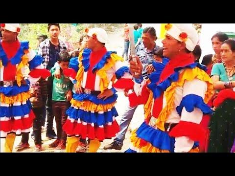 कुमाऊँनी गीत 'रूमाली का गाँठा रुयूड़ी लखनऊ की' में छलिया नाच' ! Chhliya nach in Rumali ka Gantha song