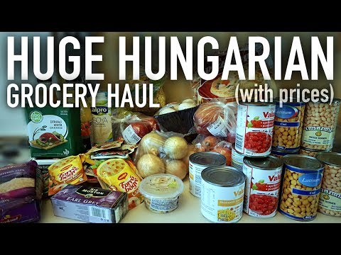 HUGE Hungarian Grocery Haul (WITH PRICES!!) 🇭🇺